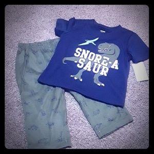 "NWT Carter's ""Snore-a-saur"" PJs set, size 18 mo"